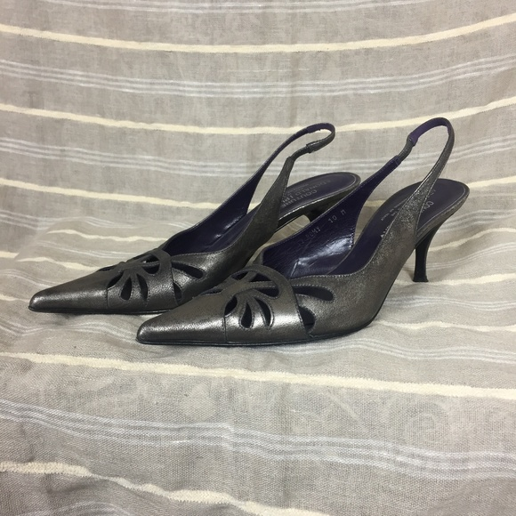 Donald J. Pliner Shoes - Donald J. Pliner Couture Metallic Cutout Pumps